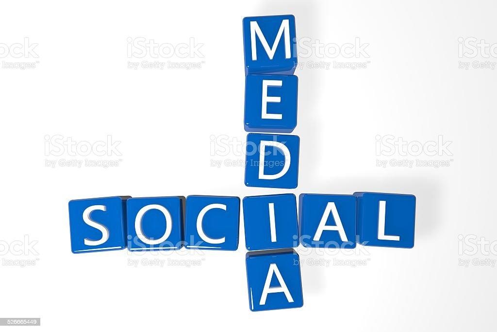 Crossword Social Media stock photo