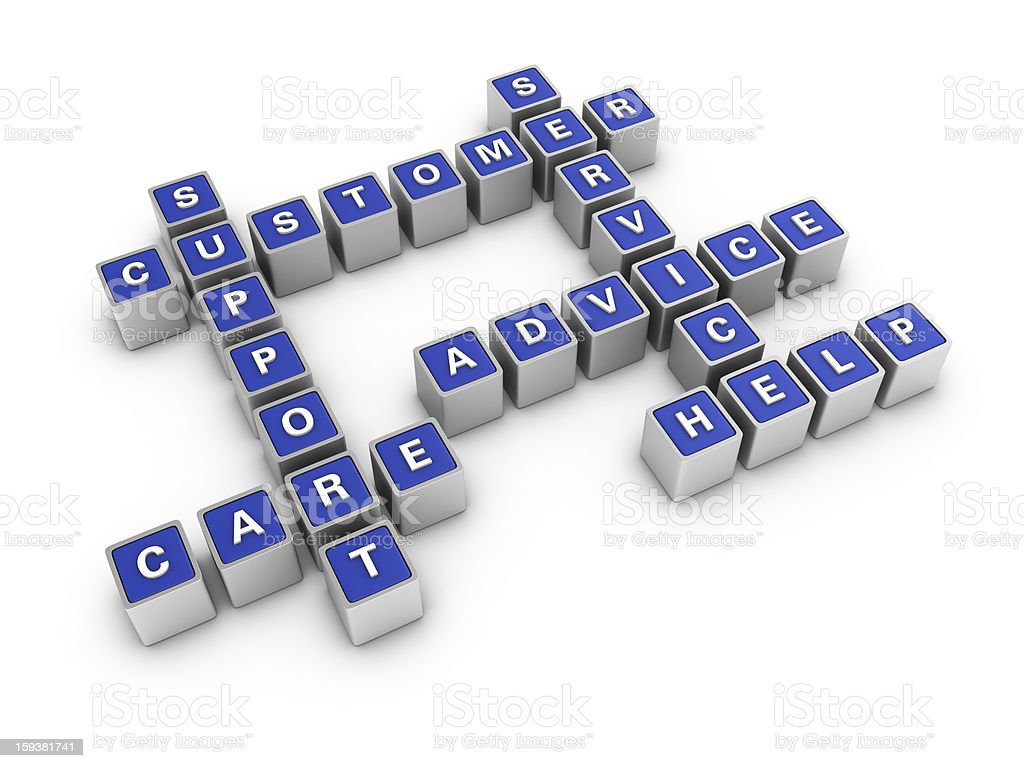 Crossword: Support Concept royalty-free stock photo
