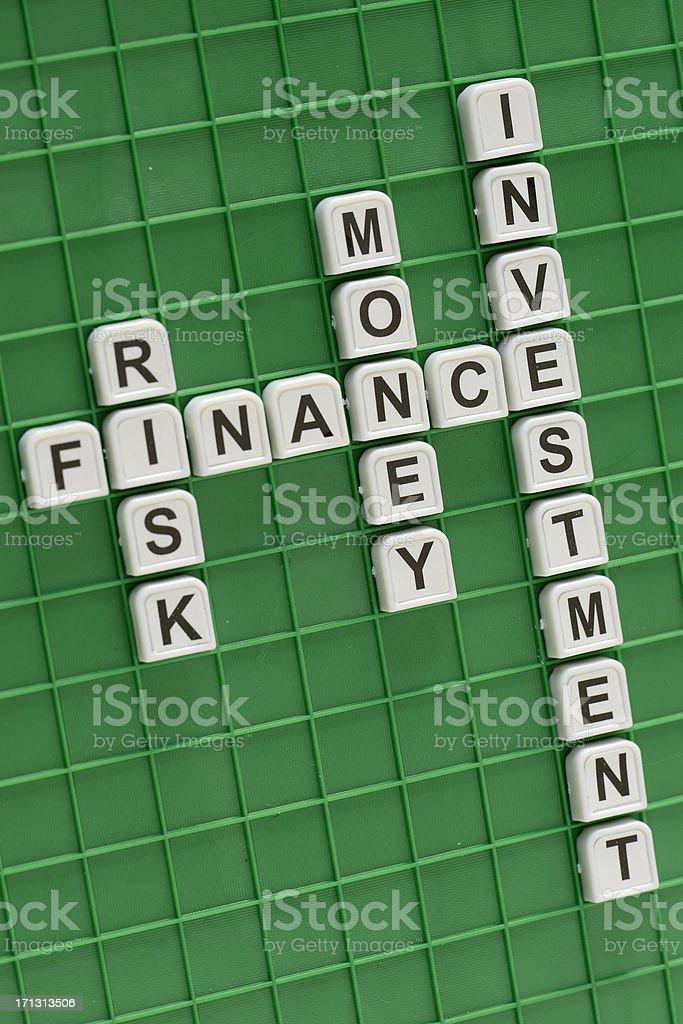 Crosswords concept: Finance stock photo