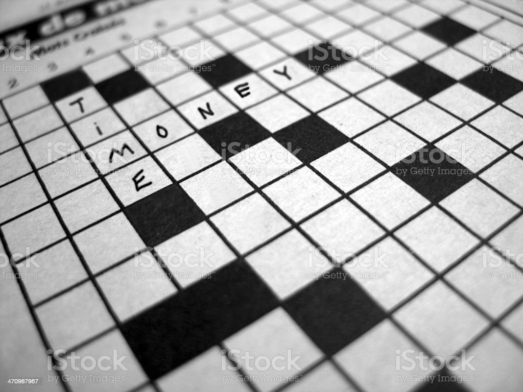 Crosswords: Time and Money royalty-free stock photo