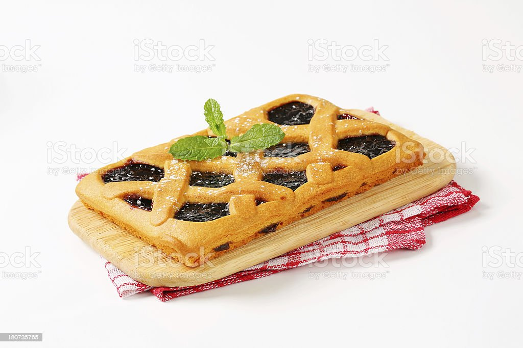 Crostata, Italian homemade tart stock photo