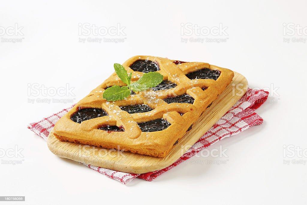 Crostata, Italian homemade tart royalty-free stock photo