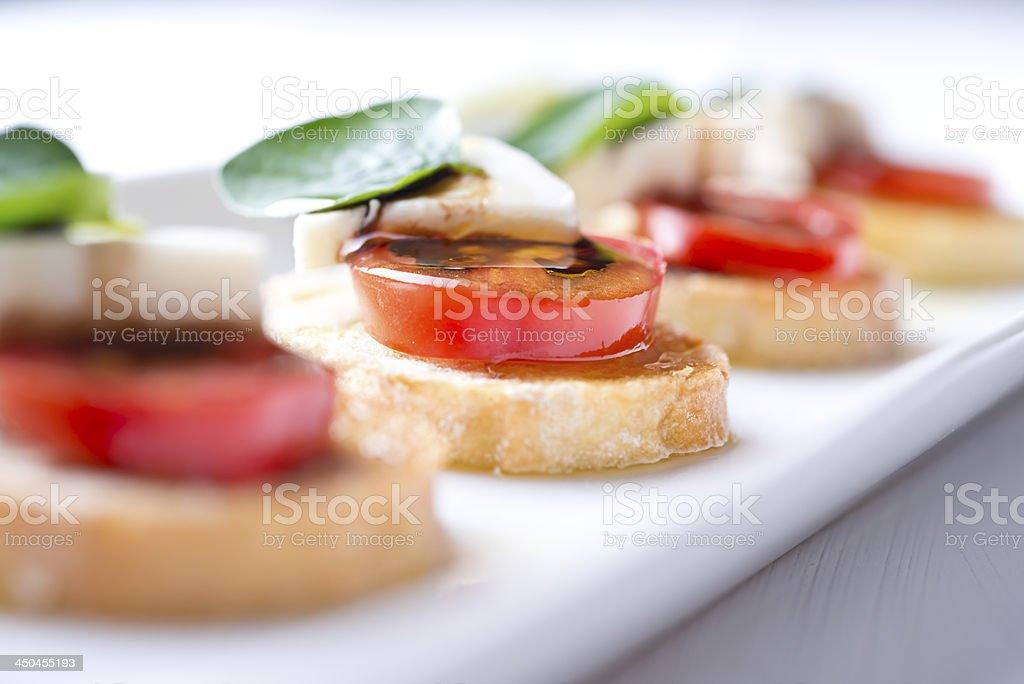 Crostini Tomato Appetizer stock photo