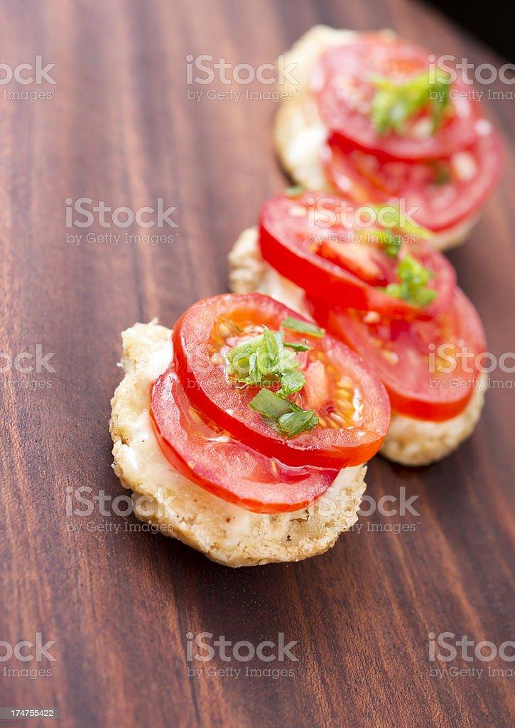 Crostini Tomato royalty-free stock photo