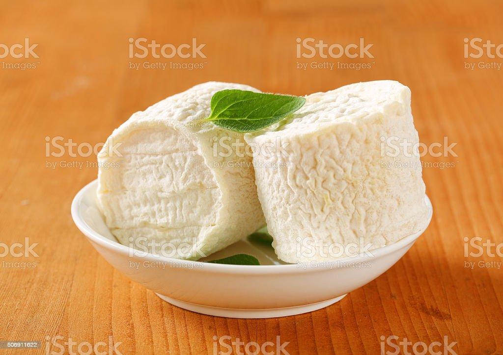 Crottins de Chevre cheese stock photo