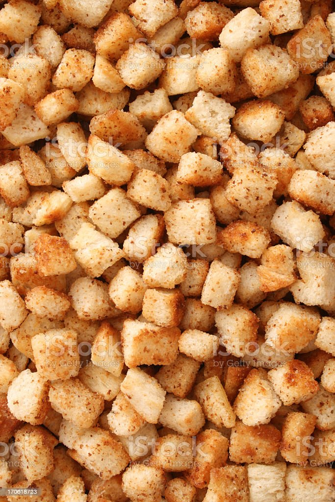 Croutons background stock photo