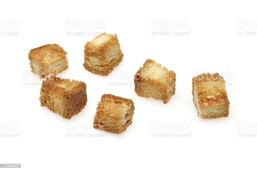 croutons stock photo