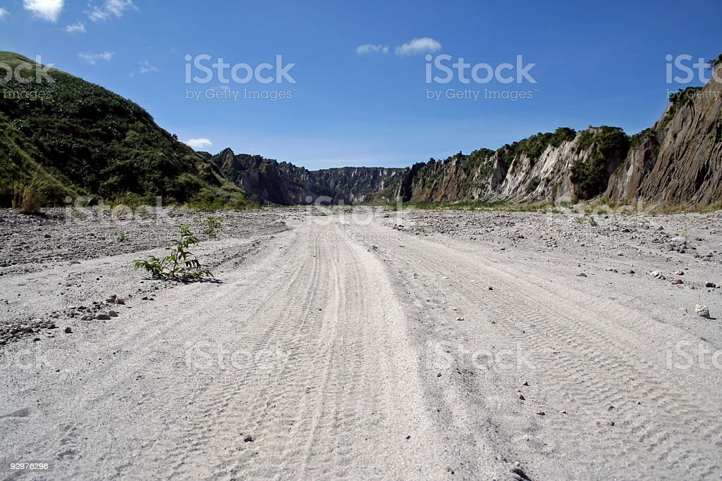 crow valley dirt road background philippines royalty-free stock photo
