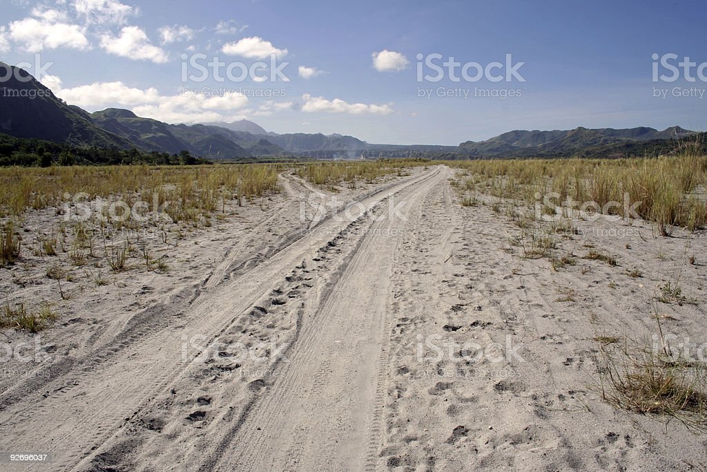 crow valley dirt road driving philippines stock photo