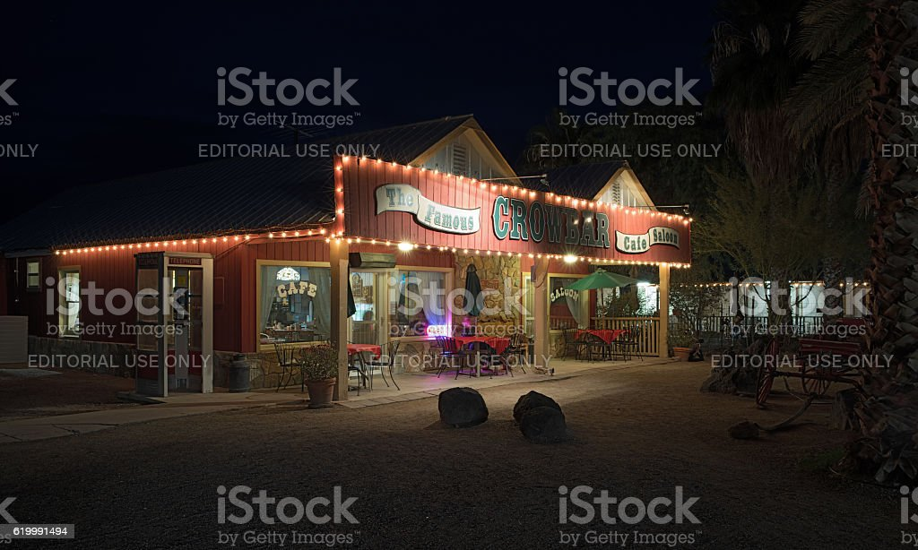 Crowbar Cafe and Saloon stock photo