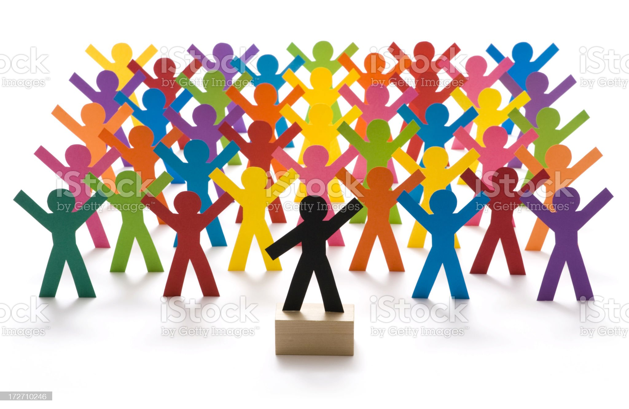 Crowd and leader royalty-free stock photo