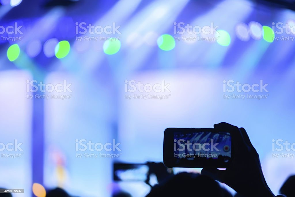 Crowd at concert royalty-free stock photo