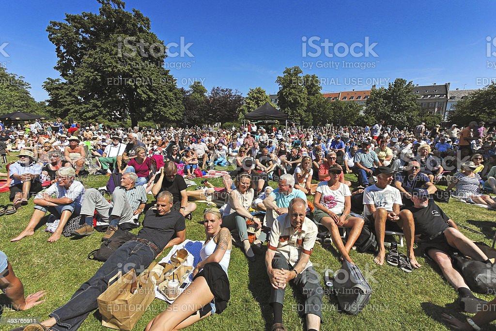 Crowd at Copenhagen jazz festival 2013 stock photo