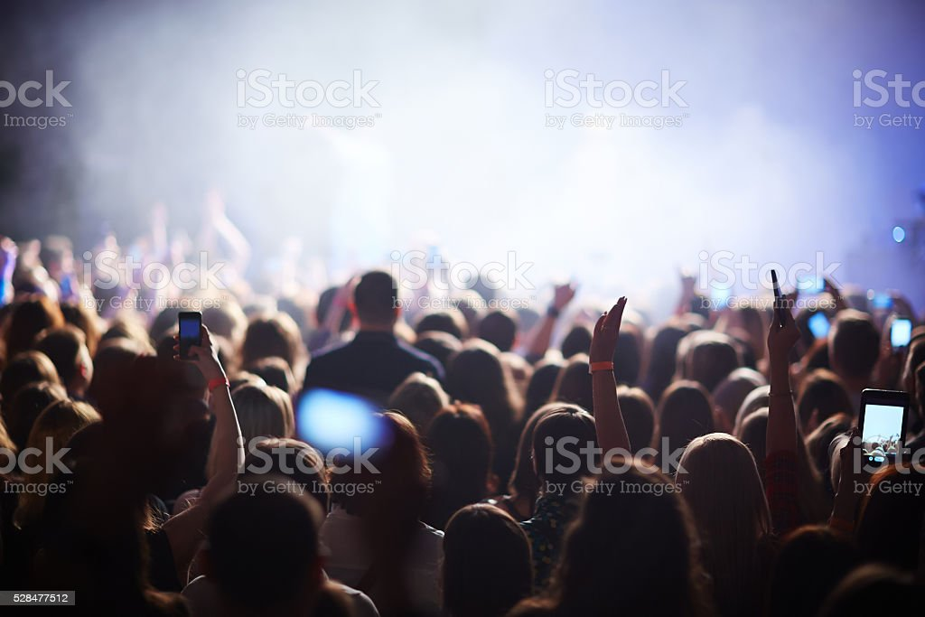 Crowd at festival stock photo
