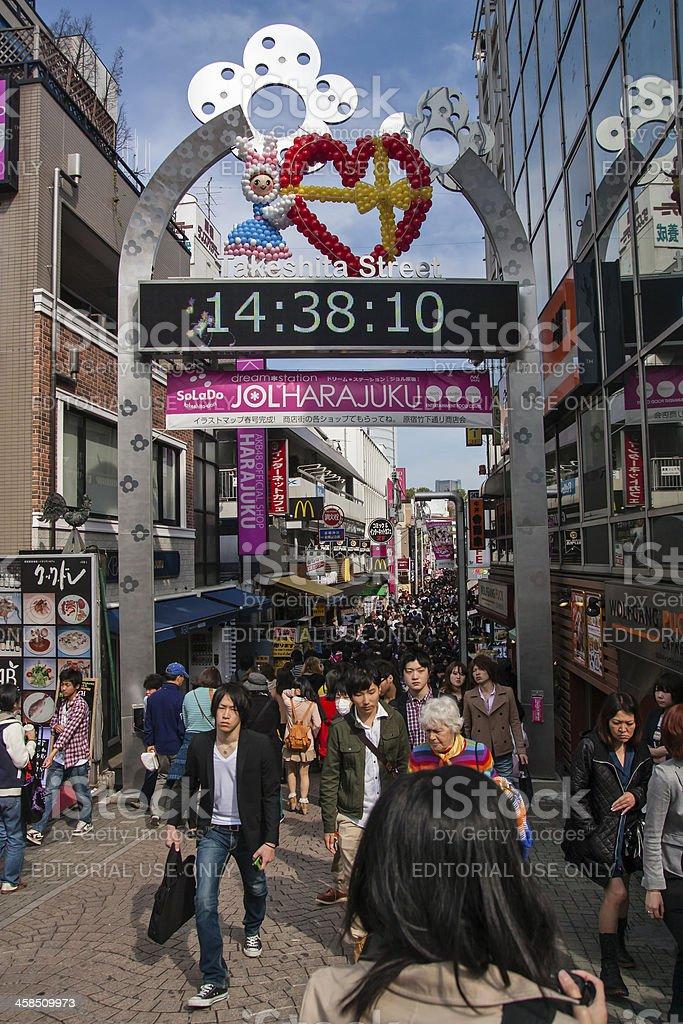 Crowd at takeshita street royalty-free stock photo