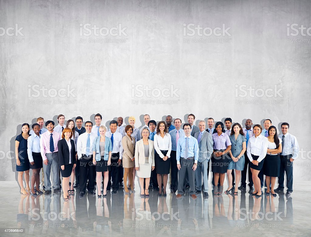 Crowd Business People Colleague Community Togetherness Team Conc stock photo