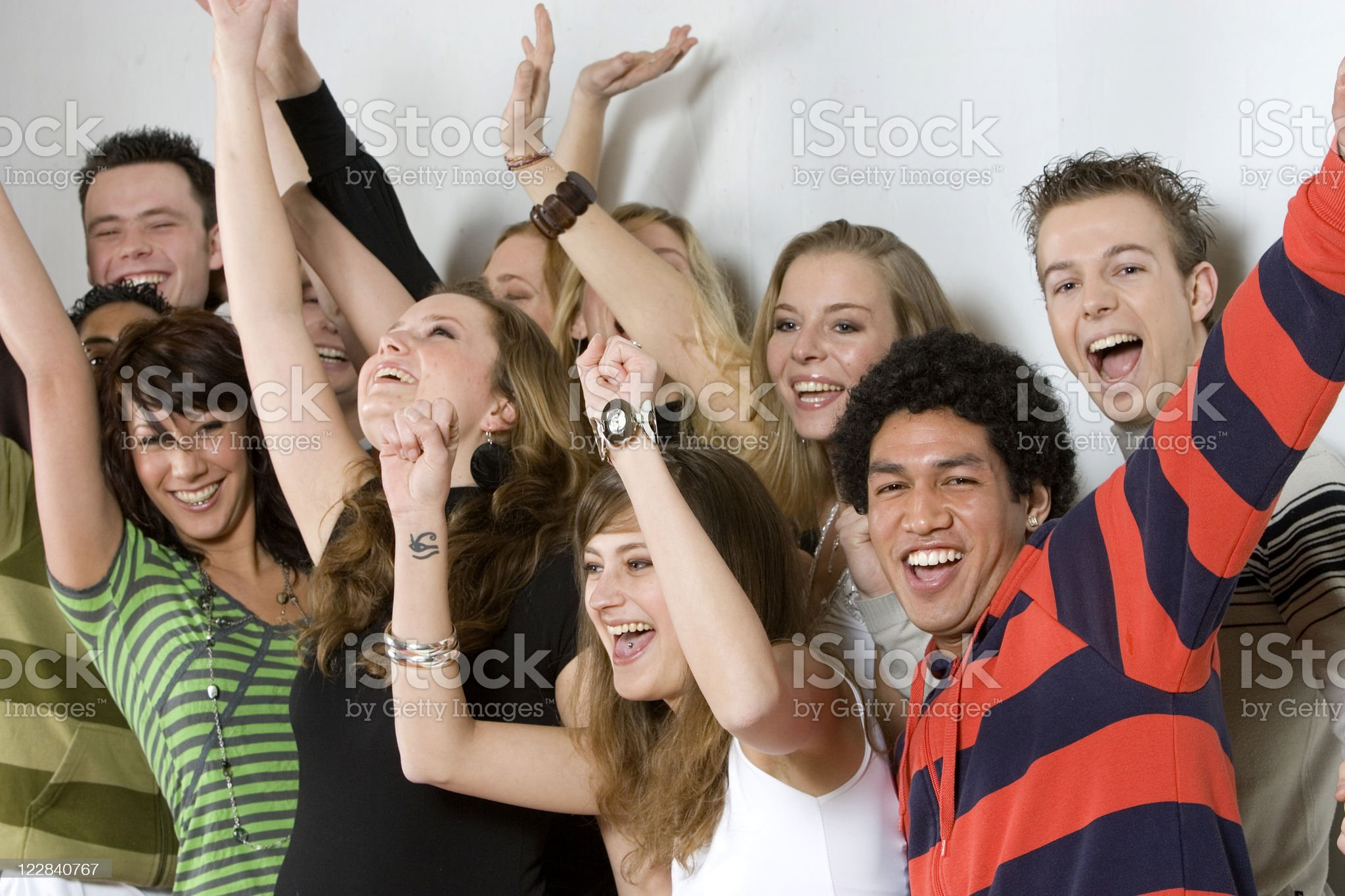crowd cheering royalty-free stock photo