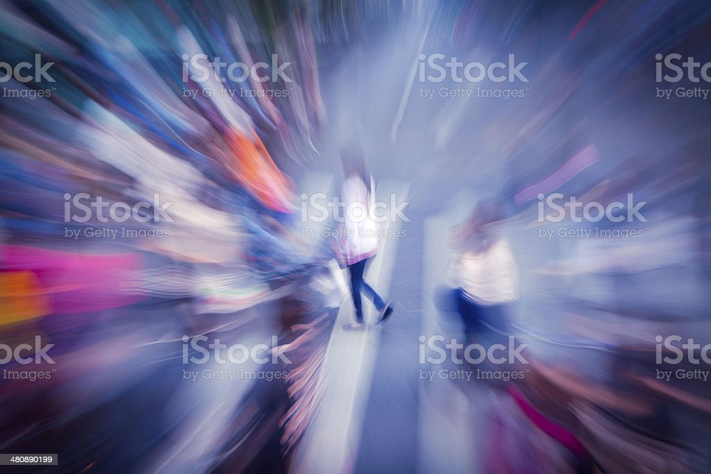 Crowd crossing on the street royalty-free stock photo