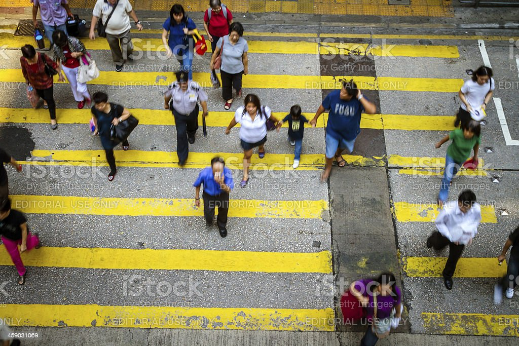 Crowd Crossing royalty-free stock photo