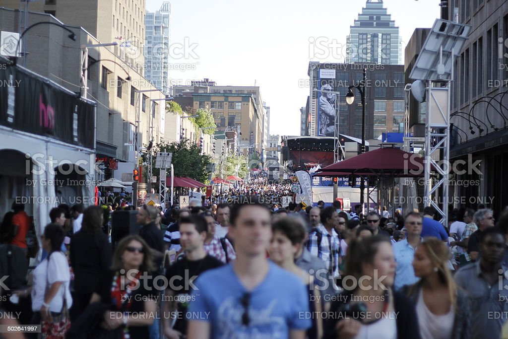 Crowd from Montreal Jazz Festival stock photo