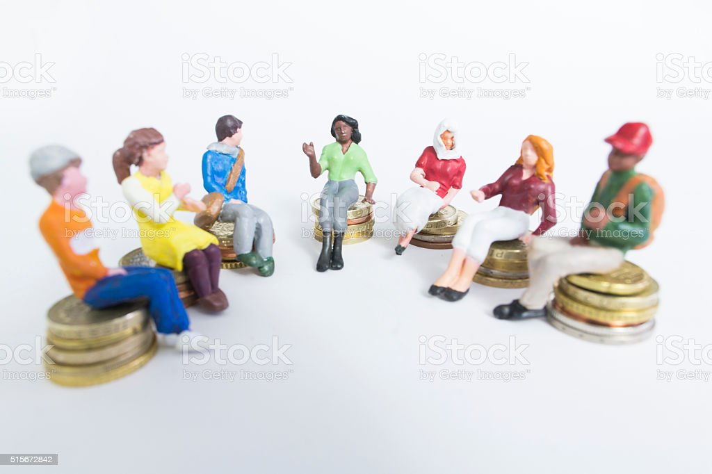 crowd funding diverse investment stock photo