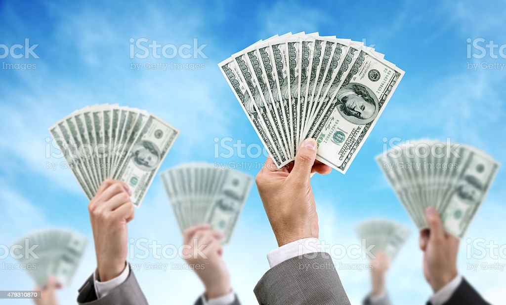 Crowd funding finance and investment stock photo