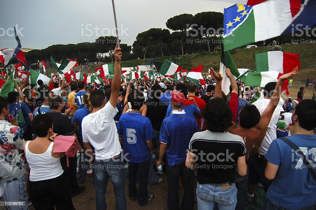 Crowd -- Giant Screen royalty-free stock photo
