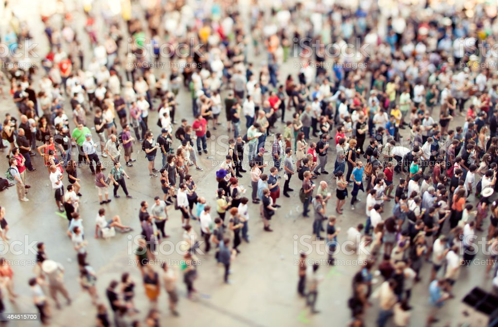 Crowd in a concert stock photo