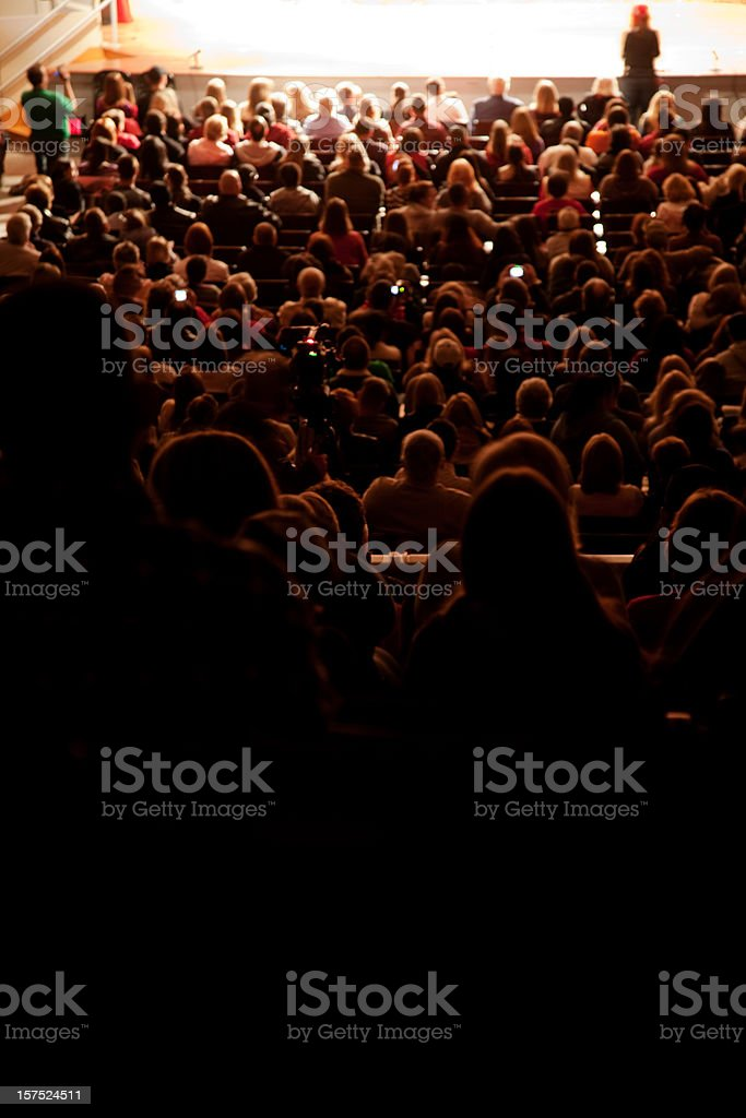 Crowd in a Theater royalty-free stock photo