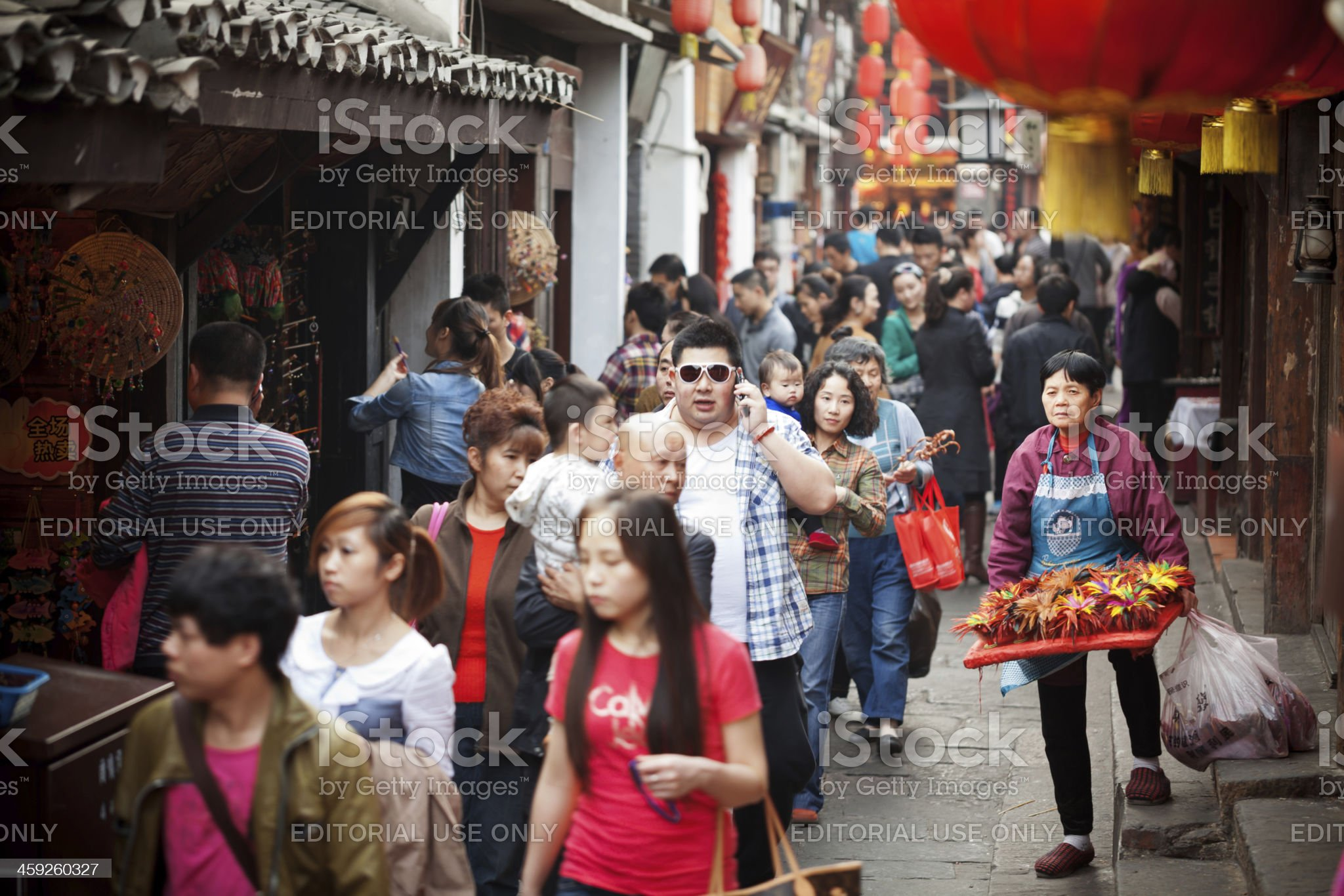 Crowd in Ciqikou ancient town, China royalty-free stock photo