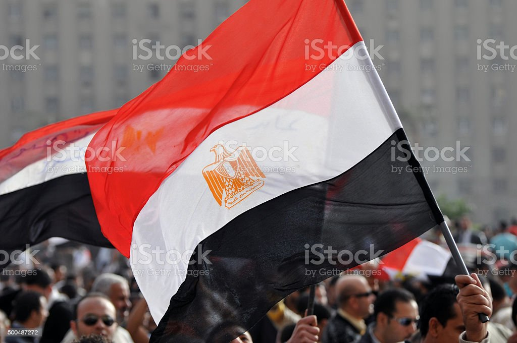 Crowd in Egypt stock photo