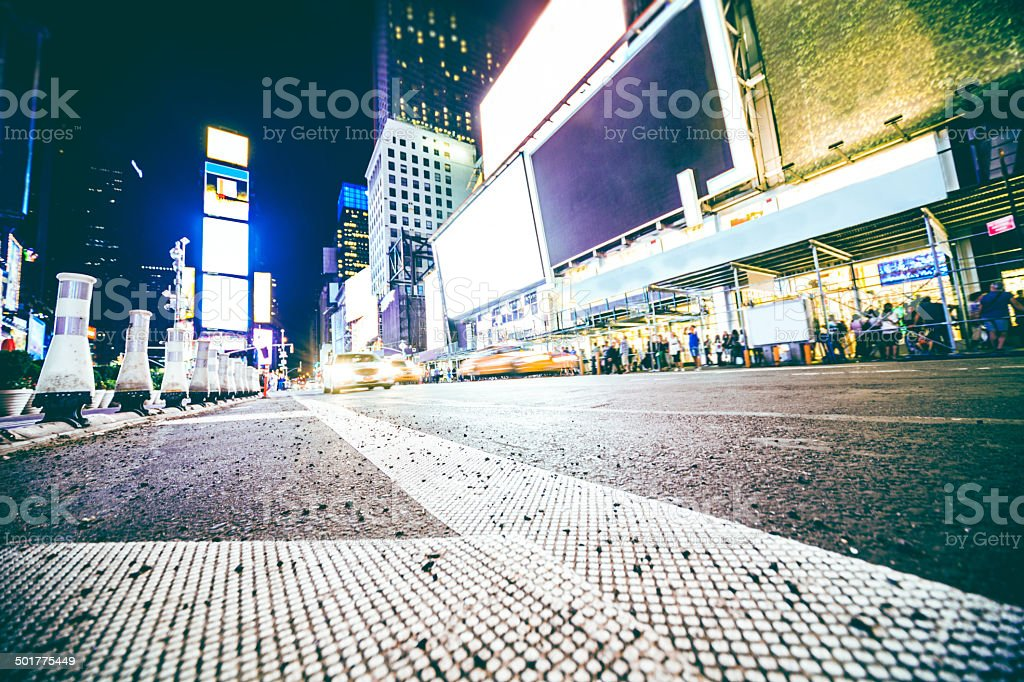 Crowd in Times Square stock photo