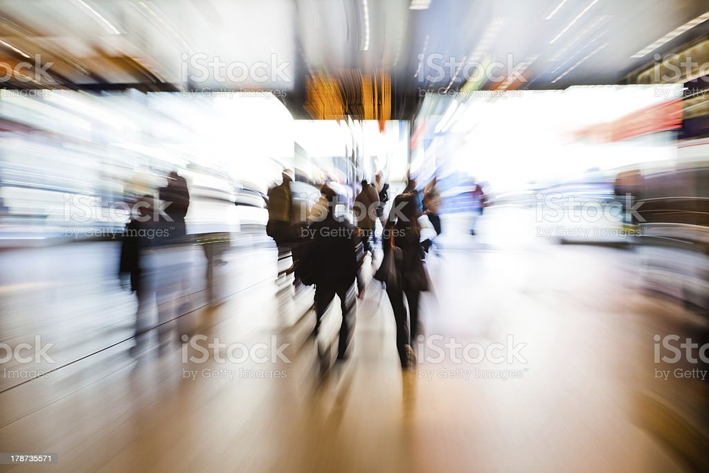 crowd in zoom effect stock photo