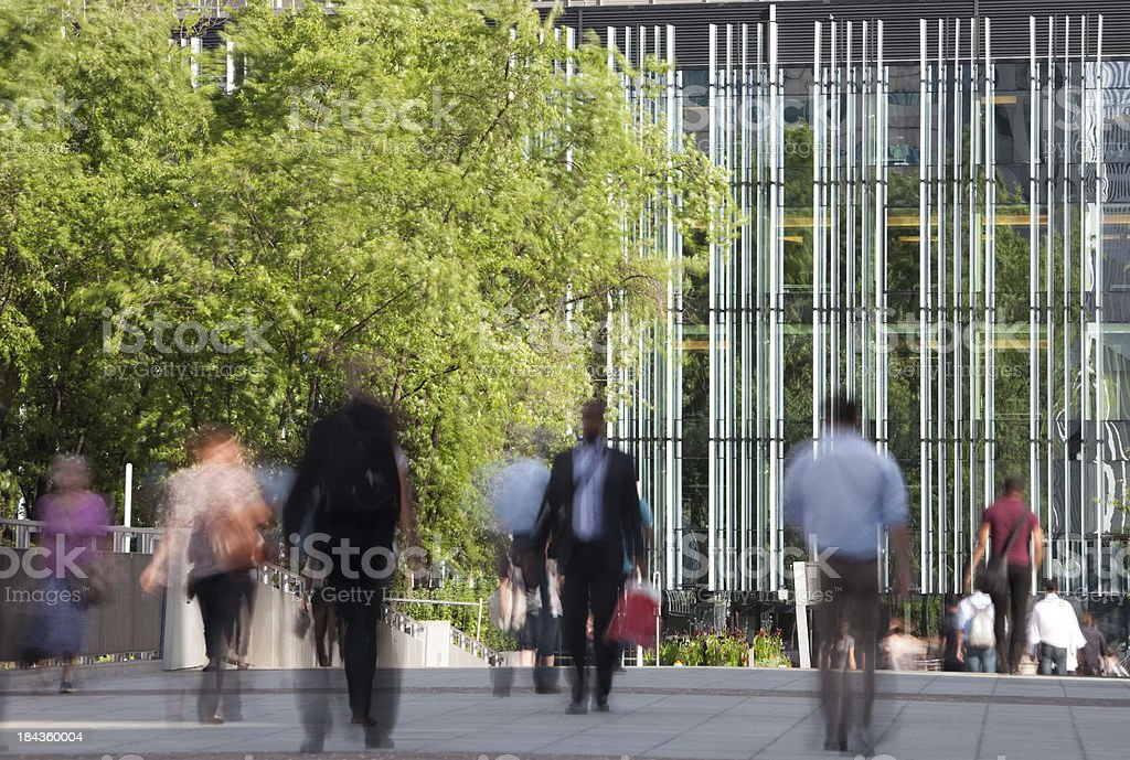 Crowd of Business Commuters in Financial District royalty-free stock photo