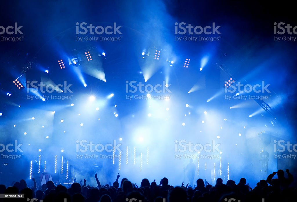 Crowd of Concert People royalty-free stock photo