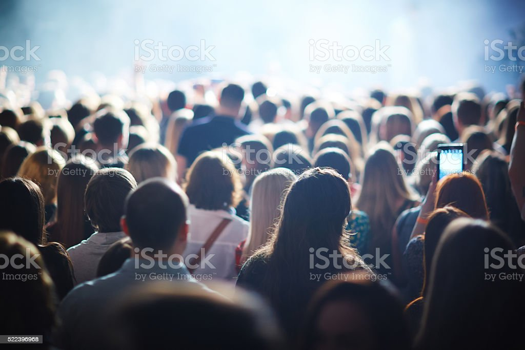 Crowd of fans stock photo