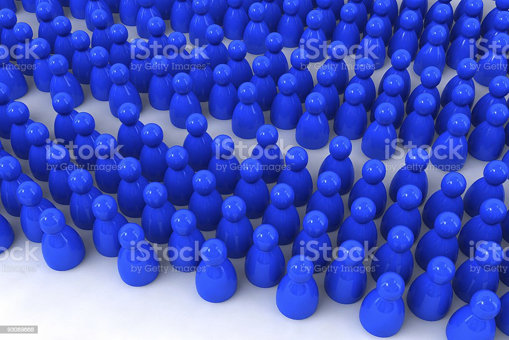 crowd of pawns royalty-free stock photo