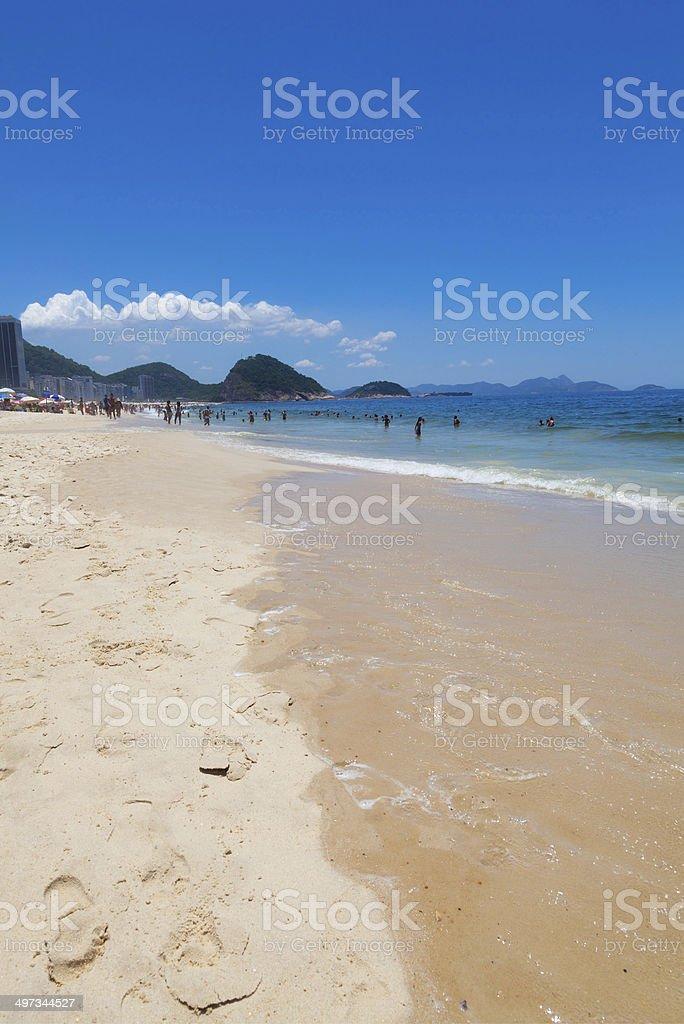 crowd of people at Copacabanain Rio de Janeiro Brazil royalty-free stock photo