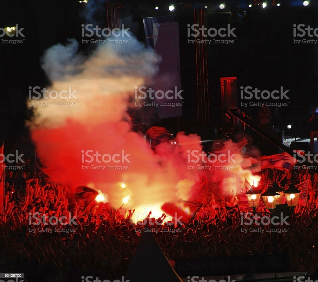 crowd of people - Fußballfans royalty-free stock photo