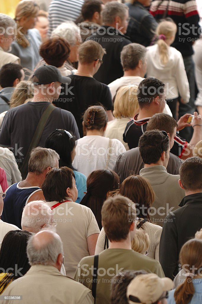 Crowd of people royalty-free stock photo