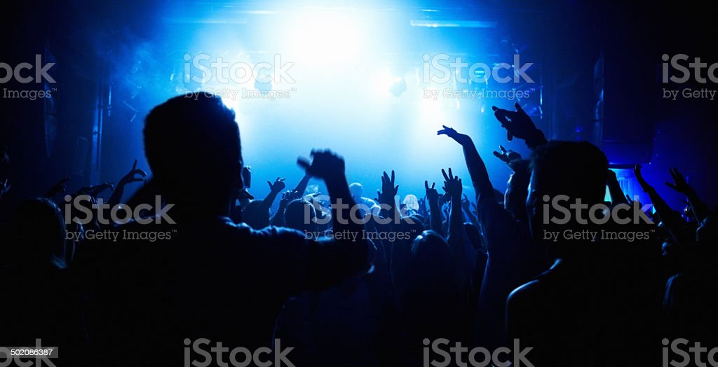 Music brings us together! stock photo