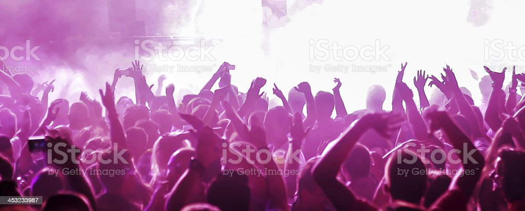 Crowd on concert royalty-free stock photo