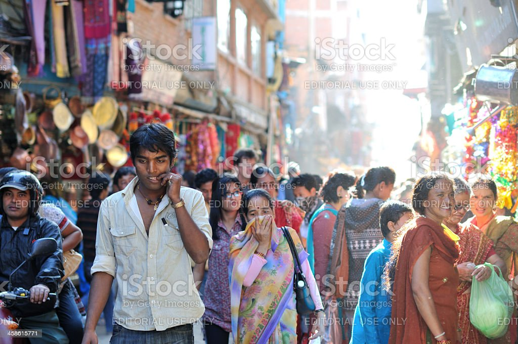 Crowd on the street royalty-free stock photo