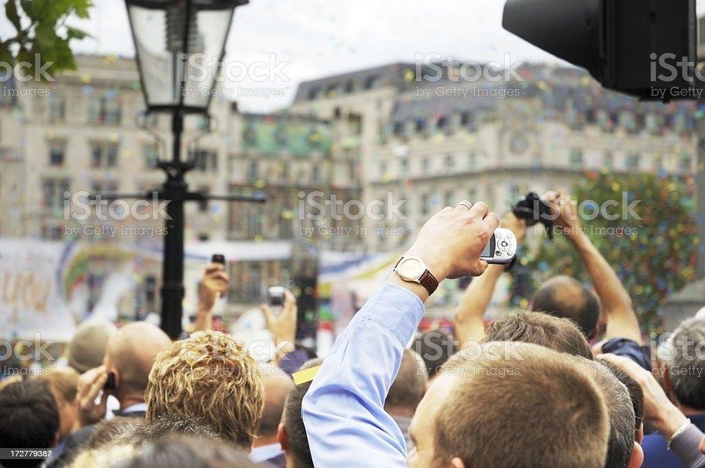 Crowd royalty-free stock photo