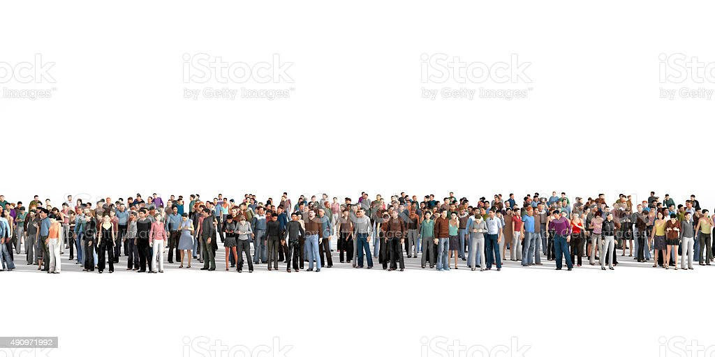 Crowd. stock photo