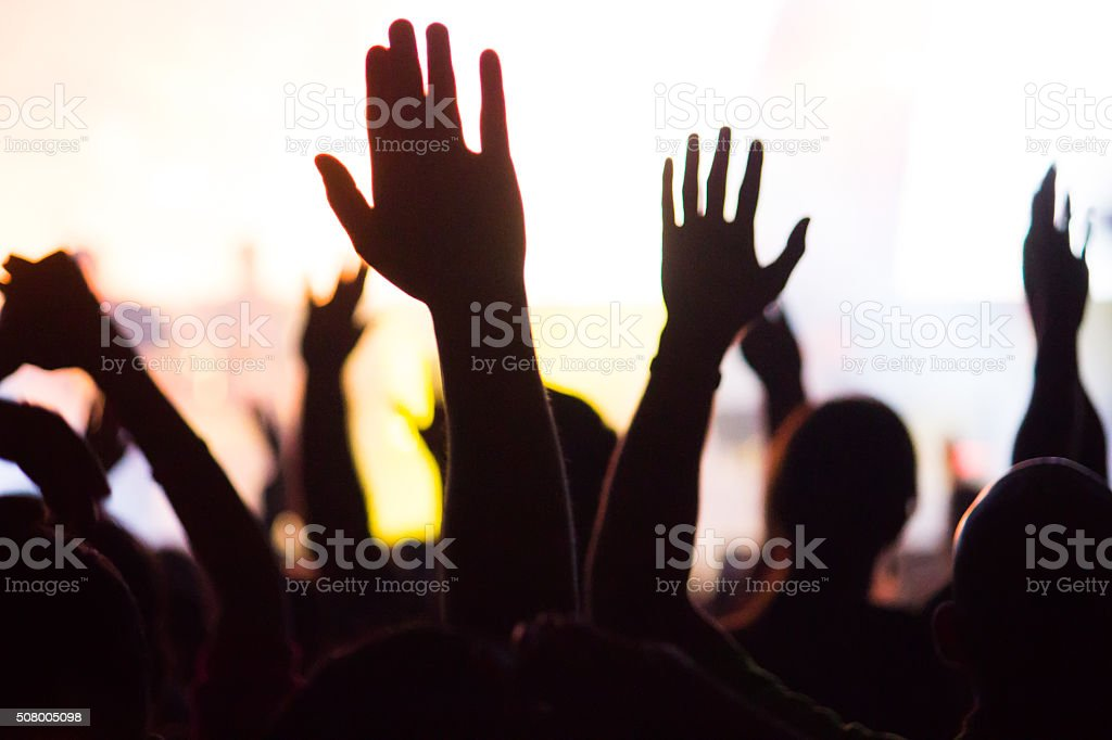 crowd stock photo