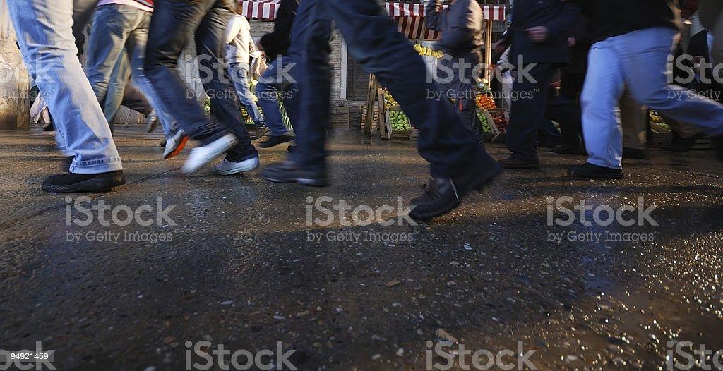 Crowd running stock photo