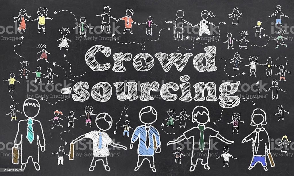 Crowd Sourcing Illustration stock photo