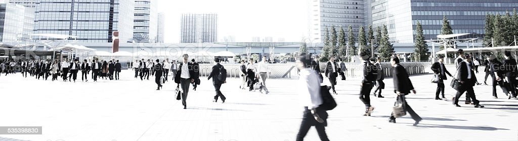 Crowd walking stock photo