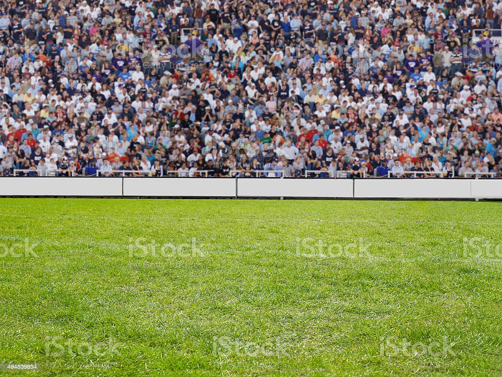 crowd watching a game in stadion stock photo